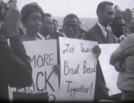 1961 and 1962 Protests in Raleigh. Howard Johnson restaurant. NC State name.