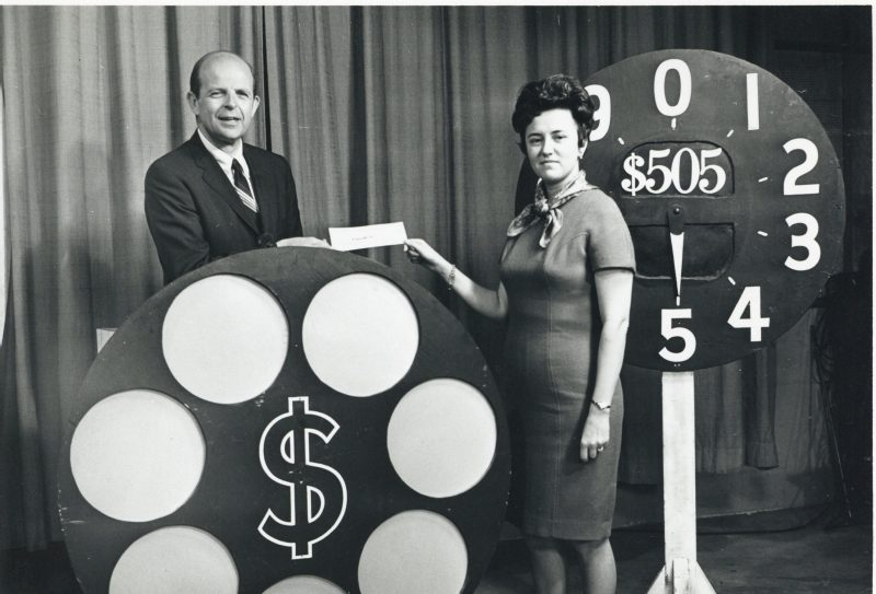 Bob DeBardelaben with Dialing for Dollars winner