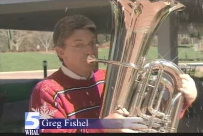 Christmas greeting from Greg Fishel and Mike Maze