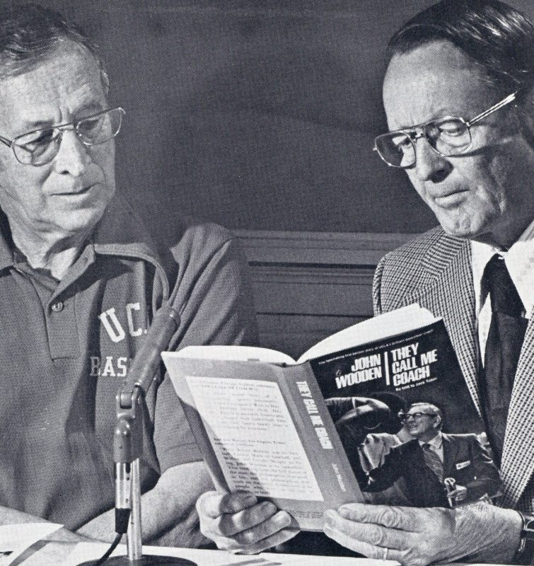 Coach John Wooden and Reverend Jimmy Morriss