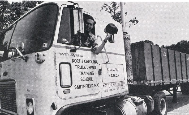 Dave Waters in truck driving school