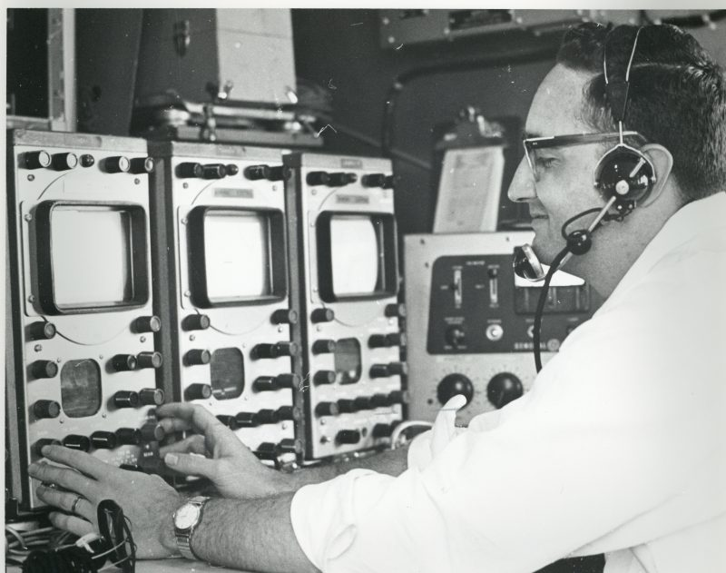 Don Ingram at controls in 72 primary