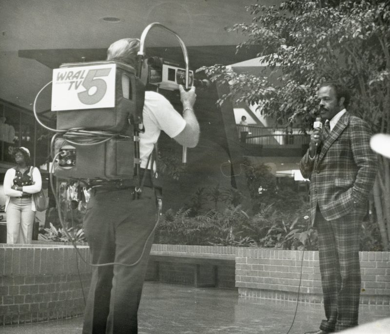 Early videotaped report for WRAL-TV News