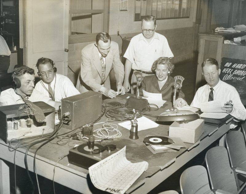 Early WRAL radio production