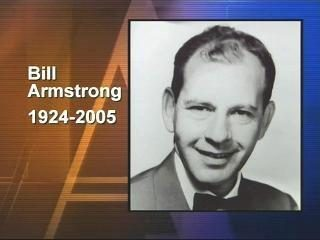 Early WRAL-TV anchorman Bill Armstrong