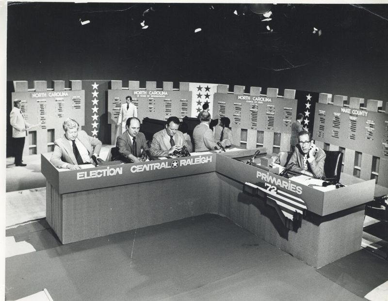 Election Central anchors and set 1972