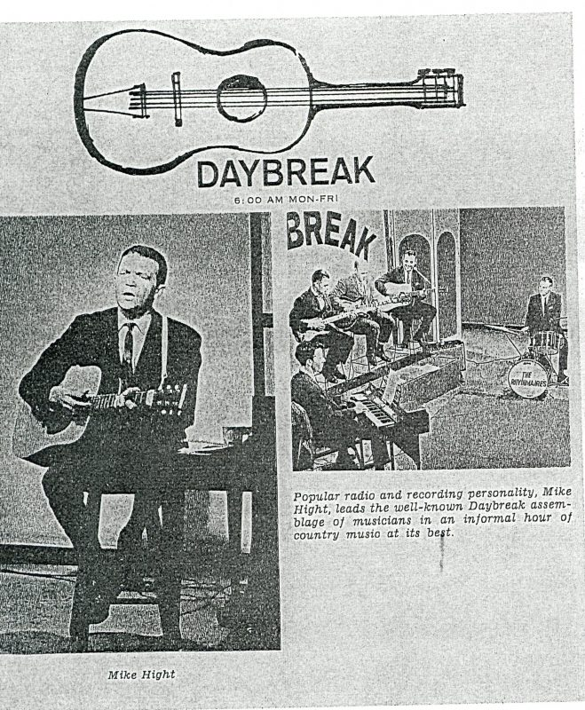 Entertainer Mike Hight on the Daybreak Show