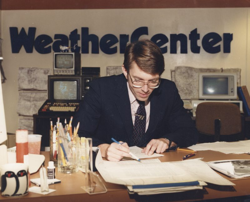 Greg Fishel in the WeatherCenter