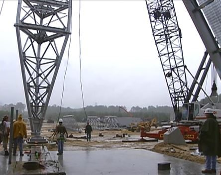 HD tower construction including interview with CBC vice president John Greene