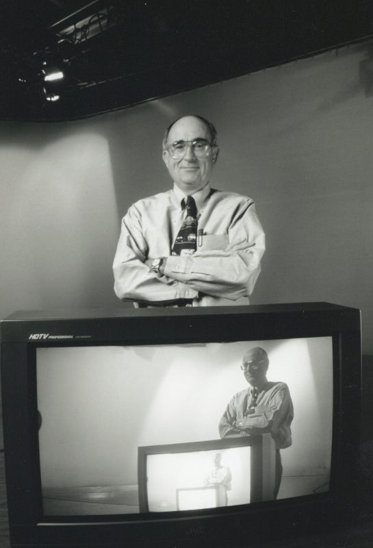 Jim Goodmon with early HD television