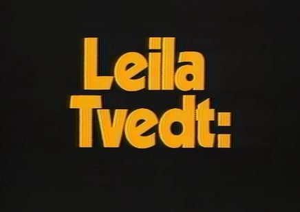 Leila Tvedt news reporter promo from 1978