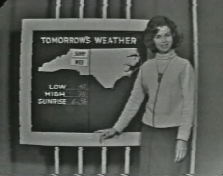 Marlene Carole – First female weathercaster at WRAL-TV