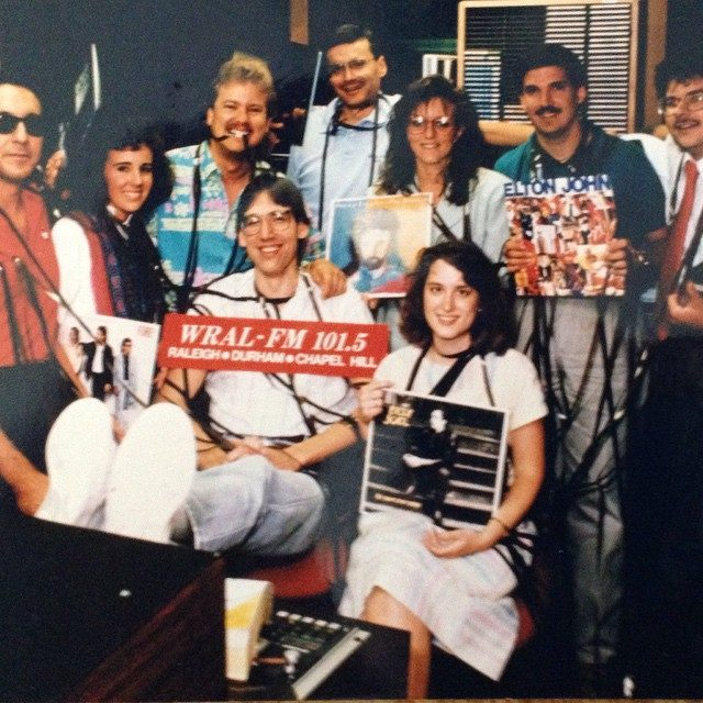 MIX 101.5 team in 1989