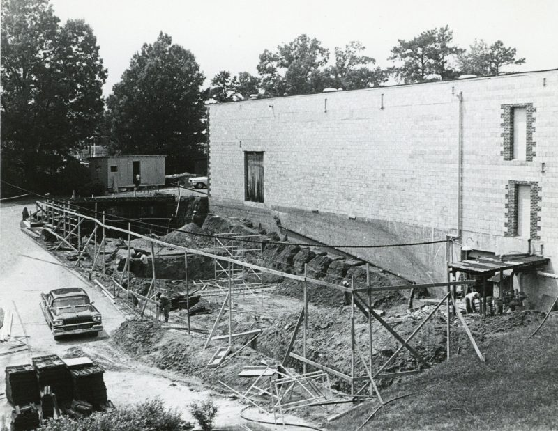 Opera auditorium excavation 1965