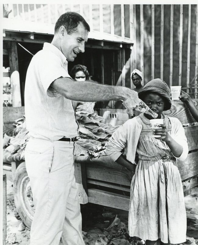 Ray Wilkinson pouring Pepsi