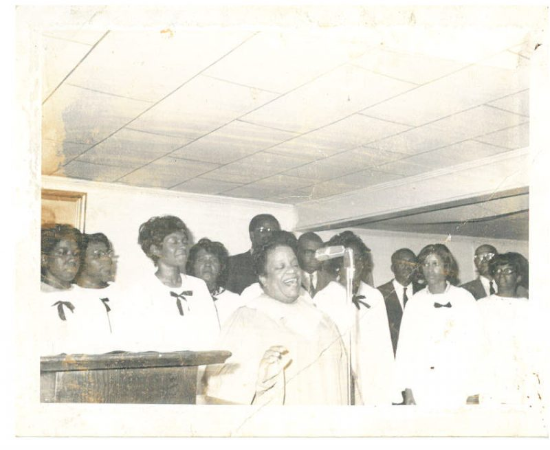 Sandra Byrd and the Weslyan choir