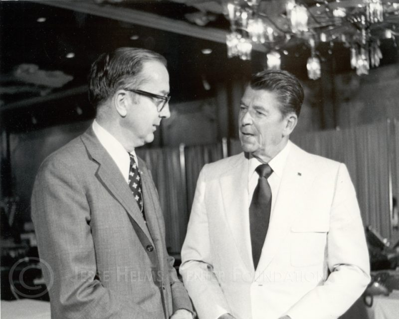 Senator Helms with President Reagan