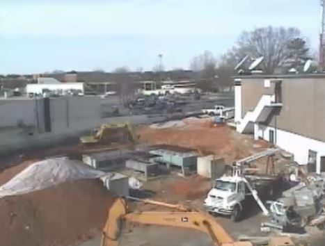Timelapse of expansion of WRAL-TV building