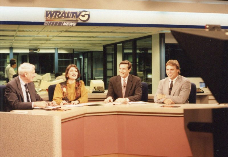 WRAL anchor team early 80s