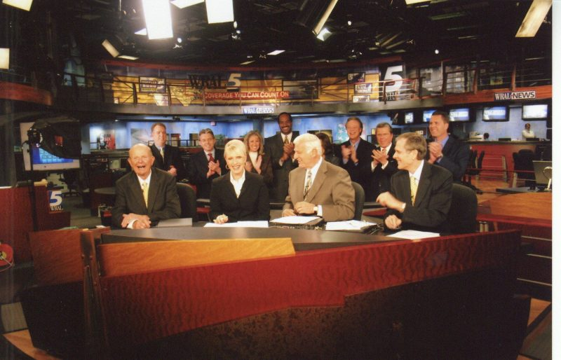 WRAL anchors old and new at 50th reuncion newscast
