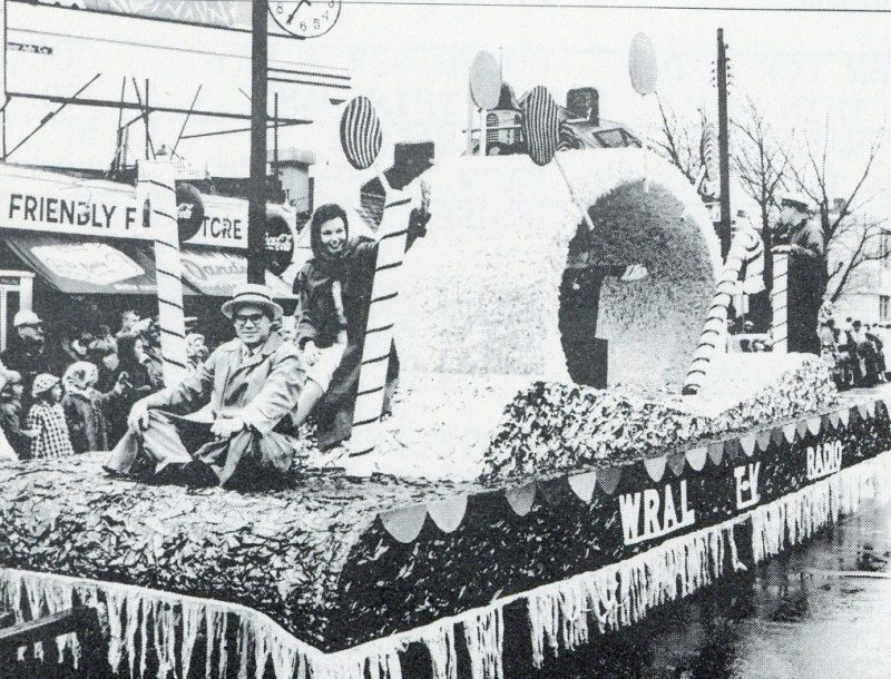WRAL Christmas parade float
