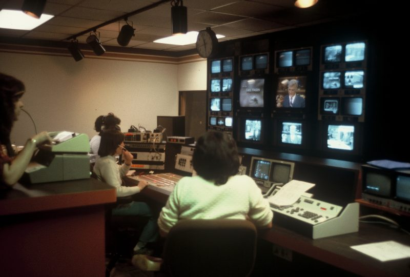 WRAL Control Room 1982