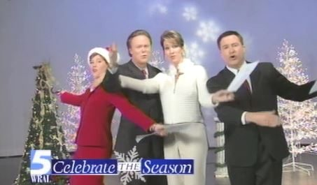 WRAL Morning News Anchors 2004 Christmas greeting
