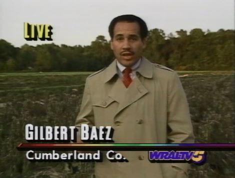 WRAL News bureau in Fayetteville with Gilbert Baez Promo 1992