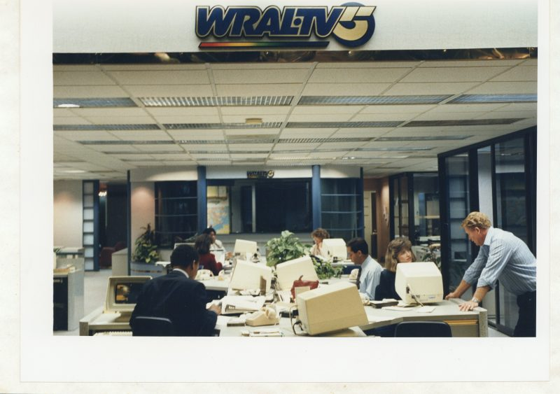 WRAL newsroom late 80s