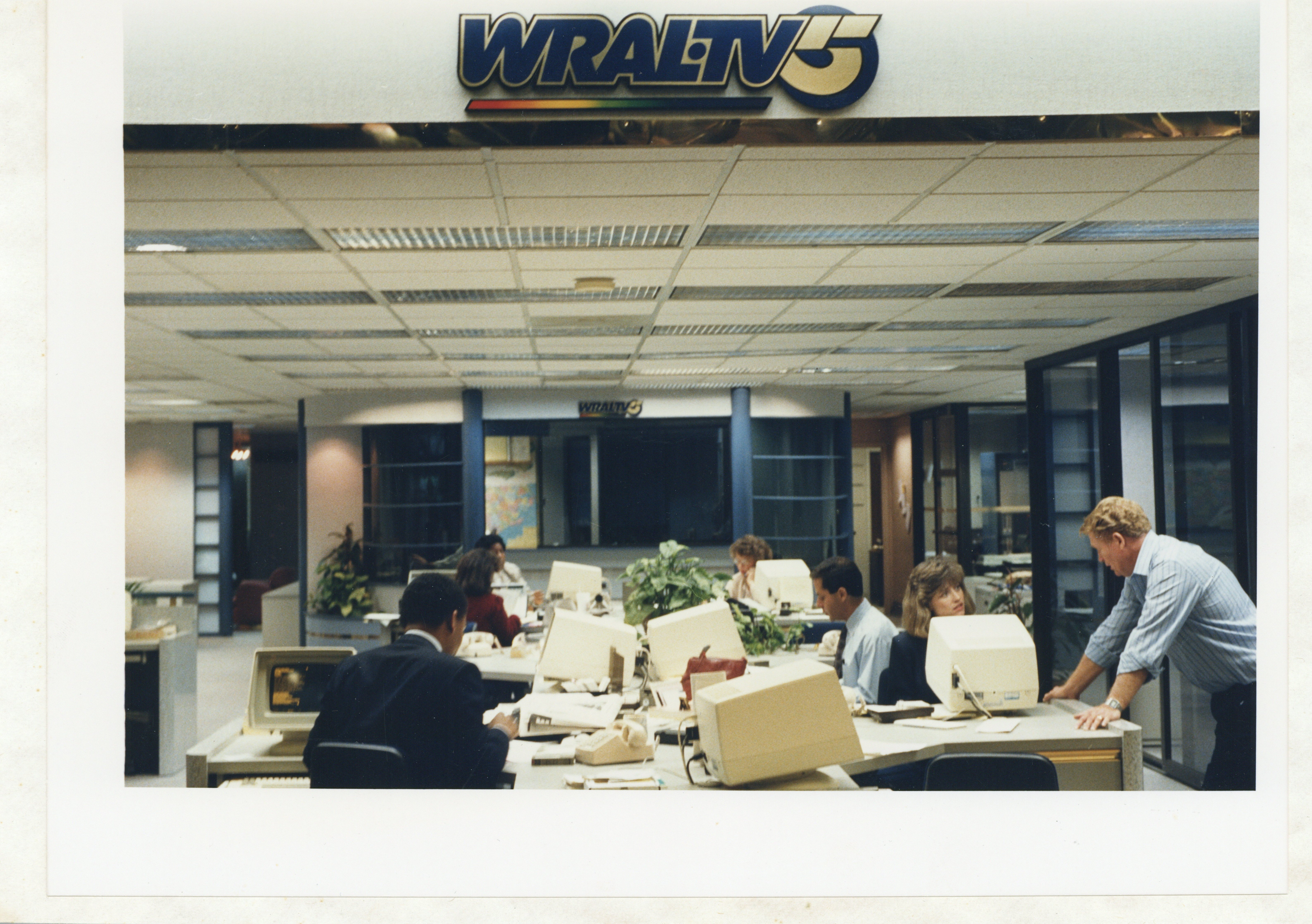 WRAL newsroom late 80s | CBC History