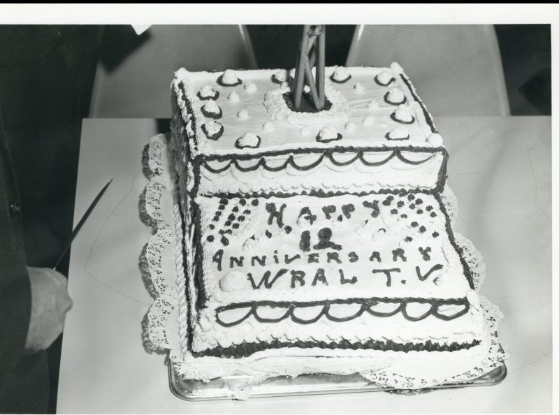 WRAL-TV 12th anniversary cake