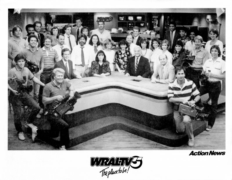 WRAL-TV Action News team in 1986