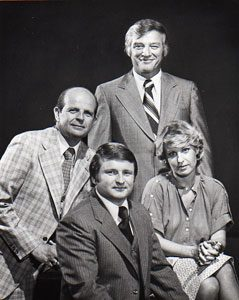 WRAL-TV anchor team in 80s