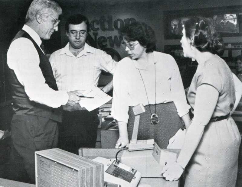 WRAL-TV News team at work covering 1984 primary