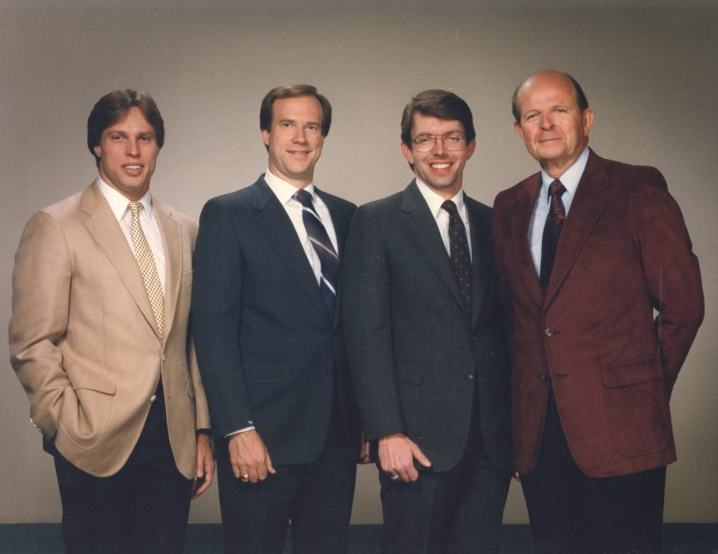 WRAL Weather team in 1980s