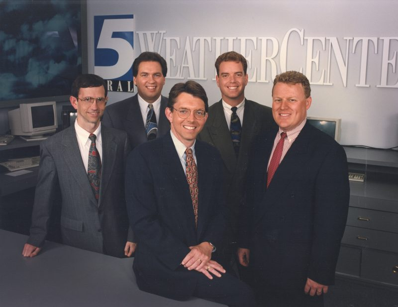 WRAL Weather team in 1990s